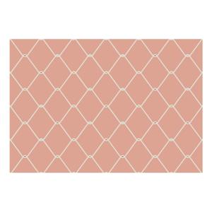 Ružová predložka Zerbelli Misma, 75 × 52 cm