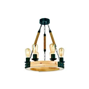Závesné svietidlo z hrabového dreva Alara Natural 6lı