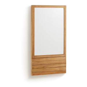 Zrkadlo z teakového dreva La Forma Sunday, 60 x 110 cm