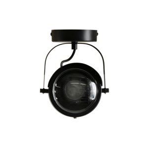 Čierne kovové stropné svietidlo WOOOD Lester
