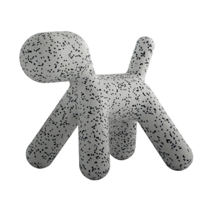 Sivo-čierna detská stolička v tvare psa Magis Puppy, výška 55,5 cm