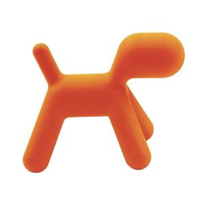 Oranžová detská stolička v tvare psa Magis Puppy, výška 34,5 cm