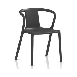Antracitovosivá jedálenská stolička s podrúčkami Magis Air