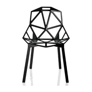 Čierna jedálenská stolička Magis One