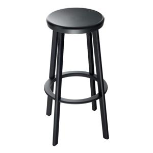 Čierna barová stolička Magis Deja-vu, výška 66 cm
