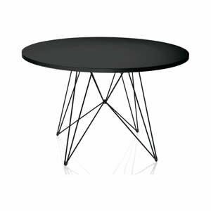 Čierny jedálenský stôl Magis Bella, ø 120 cm