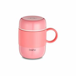 Ružový vakuový antikoro termohrnček Pioneer Vacuum, 280 ml