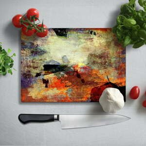 Farebná doska na krájanie z tvrdeného skla Insigne Fatallo, 35 × 25 cm