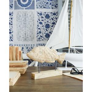 Dekorácie z dreva Orchidea Milano Fish Carp, výška 20 cm