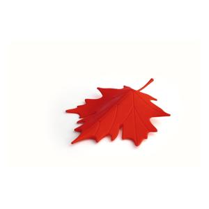 Červená zarážka pod dvere v tvare listu Qualy&CO Autumn
