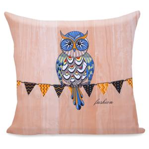 Obliečka na vankúš z mikrovlákna DecoKing Owls Autumnstory, 80 x 80 cm
