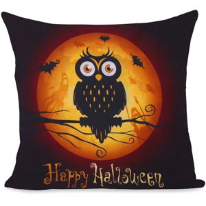 Obliečka na vankúš z mikrovlákna DecoKing Owls Ghoststory, 80 × 80 cm
