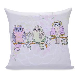 Obliečka na vankúš z mikrovlákna DecoKing Owls Springstory, 80 × 80 cm