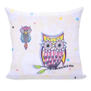 Obliečka na vankúš z mikrovlákna DecoKing Owls Summerstory, 80 x 80 cm