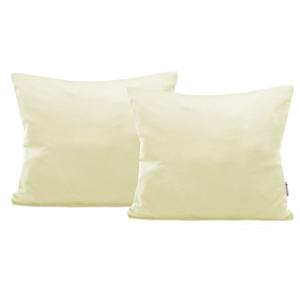 Sada 2 krémovobielych bavlnených obliečok na vankúše DecoKing Amber Cream, 50 × 60 cm