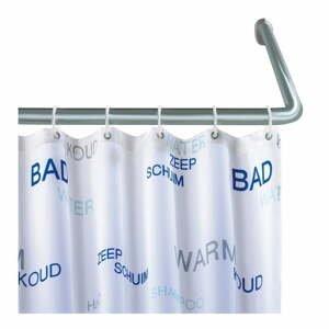 Univerzálna rohová tyč na sprchový záves Wenko Shower Curtain Rod