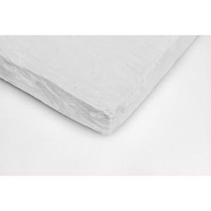 Biela mikroplyšová plachta My House, 180 × 200 cm