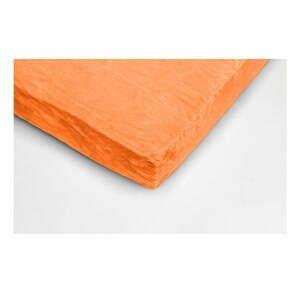 Oranžová mikroplyšová prikrývka na dvojlôžko My House, 180 × 200 cm