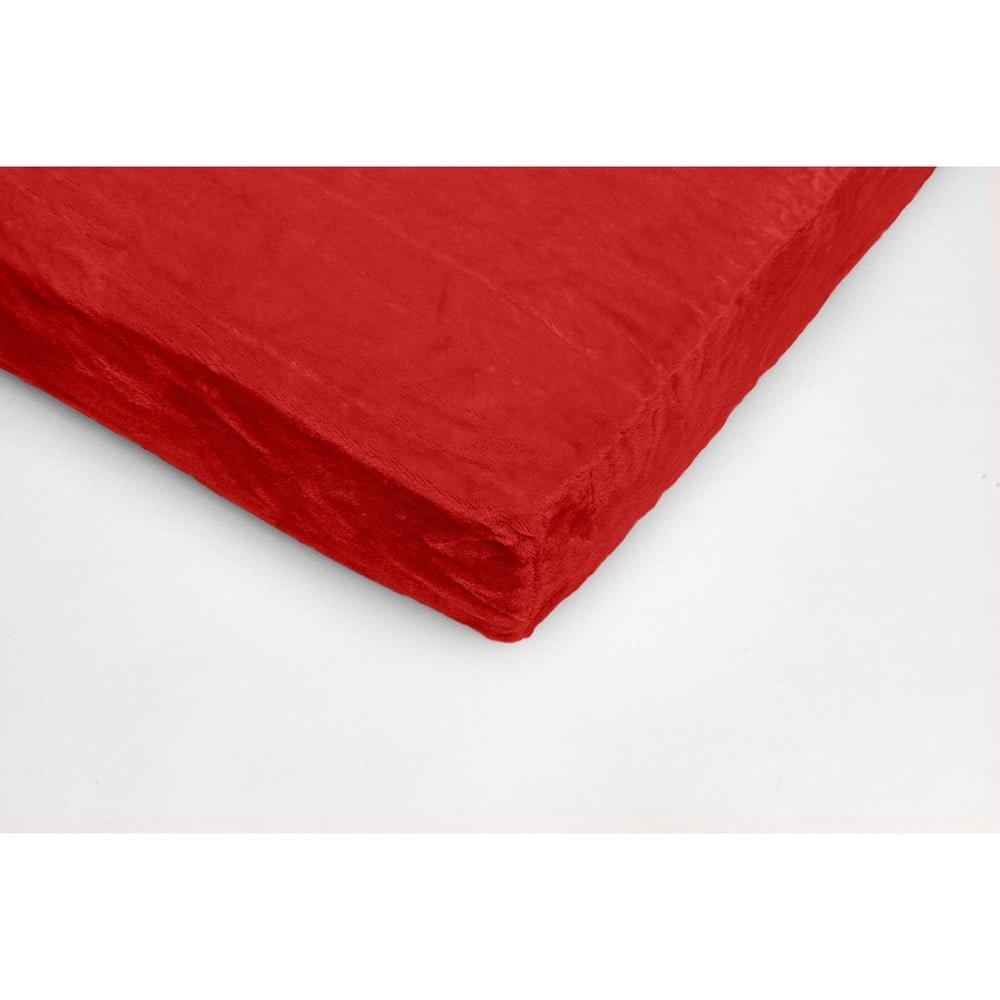 Červená mikroplyšová prikrývka na dvojlôžko My House, 180 × 200 cm