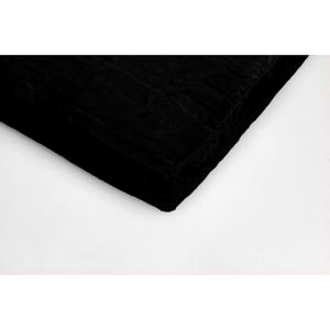 Čierna mikroplyšová prikrývka na dvojlôžko My House, 180 × 200 cm