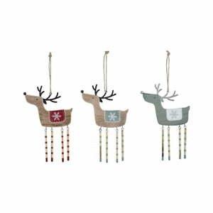 Sada 3 závesných vianočných dekorácií na stromček Ego Dekor Misto Reindeers