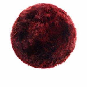 Červený koberec z ovčej kožušiny Royal Dream Zealand, ⌀ 70 cm