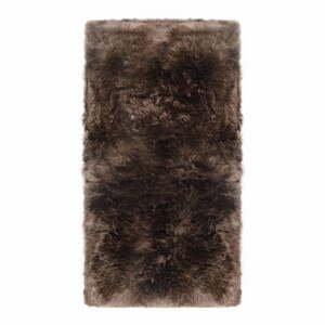 Sivohnedý koberec z ovčej kožušiny Royal Dream Zealand, 140 x 70 cm