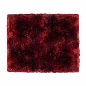 Červený koberec z ovčej kožušiny Royal Dream Zealand, 130 x 150 cm