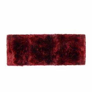 Červený behúň z ovčej vlny Royal Dream Zealand, 190 x 70 cm