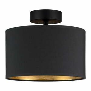 Stropné svietidlo v čierno-zlatej farbe Bulb Attack Tres, ⌀ 25 cm