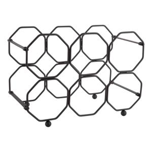 Čierny kovový skladací držiak na víno PT LIVING Honeycomb