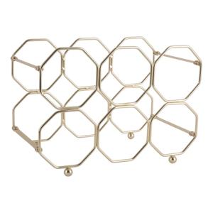 Kovový skladací držiak na víno v zlatej farbe PT LIVING Honeycomb