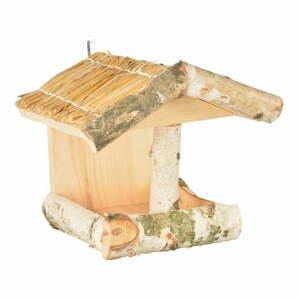 Drevené nástenné kŕmidlo pre vtáky Esschert Design, výška 24,5 cm