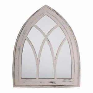 Biele zrkadlo s rámom z borovicového dreva Esschert Design, výška 80 cm