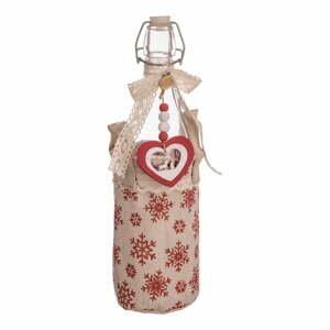 Fľaša v úložnom textilnom košíku Unimasa Christmas