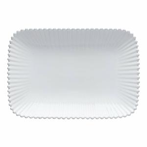 Biela kameninová tácka Costa Nova Pearl, dĺžka 30 cm