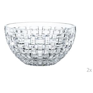 Sada 2 mís z krištáľového skla Nachtmann Bossa Nova, ⌀ 18 cm