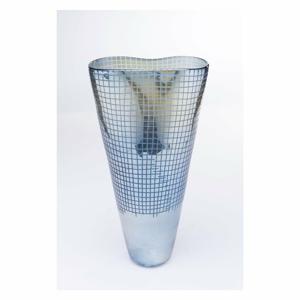 Sklenená modrá váza Kare Design Luster, výška 48 cm