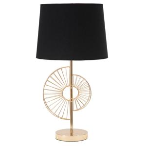 Stolová lampa v čierno-zlatej farbe Mauro Ferretti Glam Half, výška 61 cm
