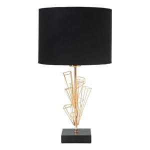 Stolová lampa v čierno-zlatej farbe Mauro Ferretti Glam Olig, výška 45 cm