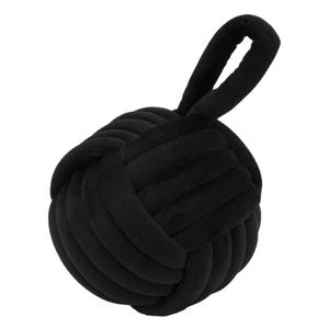 Čierna zarážka do dverí Mauro Ferretti Ball, ø 14 cm