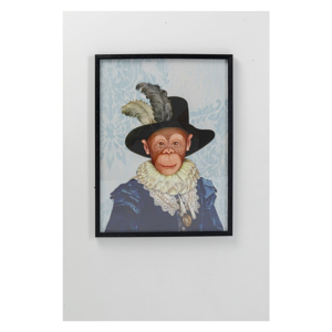 Obraz v ráme Kare Design Monkey Sir, 80 x 60 cm