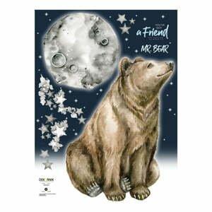 Nástenná samolepka s medveďom Dekornik Mr. Bear