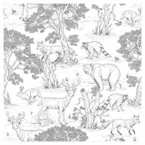 Sada nástenných samolepiek s motívom lesných zvierat Dekornik