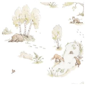 Sada nástenných samolepiek s motívom lesných zvieratiek Dekornik