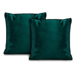 Sada 2 zelených obliečok na vankúše DecoKing Rimavelvet Green, 45 × 45 cm
