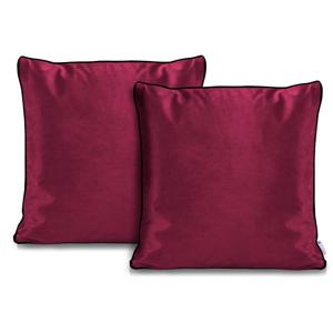 Súprava 2 ružových obliečok na vankúše DecoKing Rimavelvet Pink, 45 × 45 cm