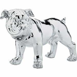 Dekoratívna soška psa v striebornej farbe Kare Design Bulldog