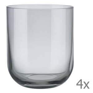 Sada 4 sivých pohárov na vodu Blomus Mira, 350 ml