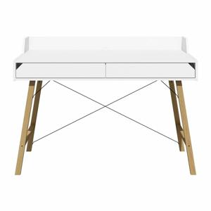 Biely písací stôl Lotta BELLAMY, šírka 132 cm
